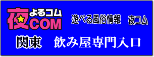 夜コム、関東飲み屋サイト入口
